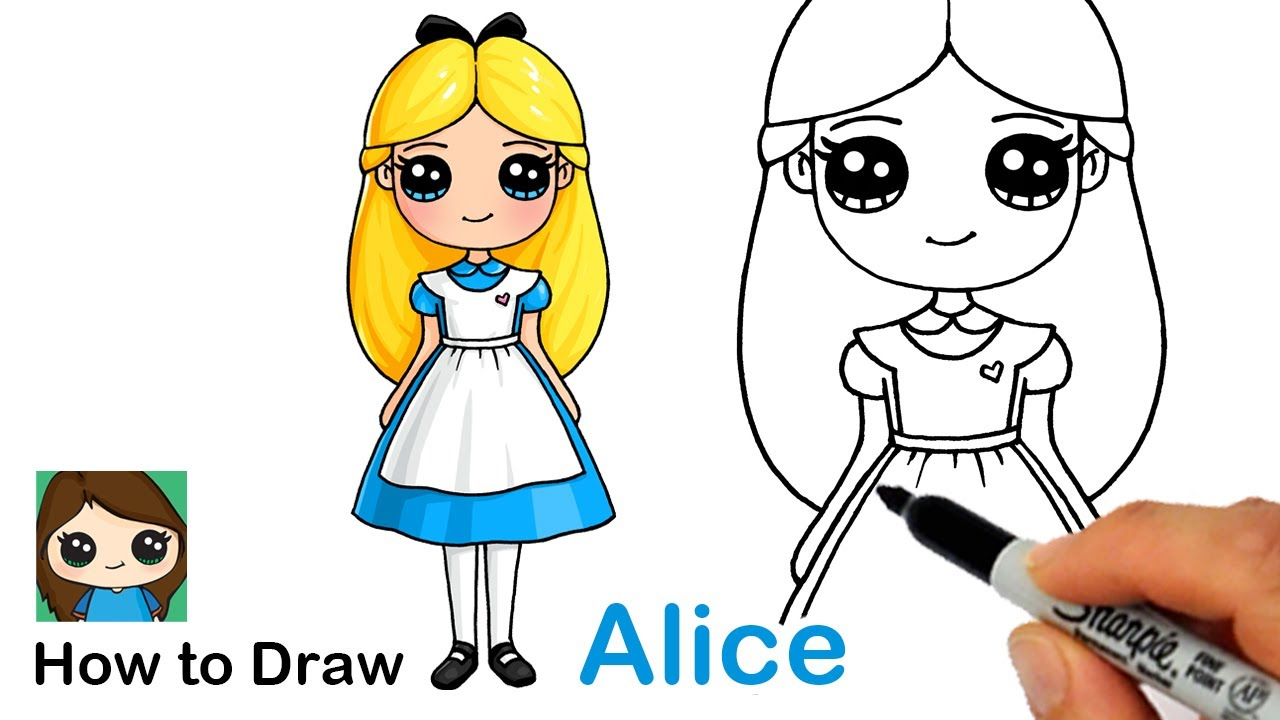 How to Draw Alice in Wonderland