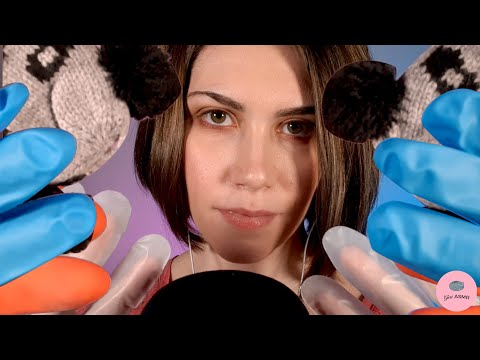 ASMR ENJOY SOME GLOVE SOUNDS   Crinkles, Fabric Sounds, Latex and Rubber Gloves