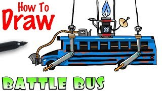 How to Draw the Battle Bus | Fortnite