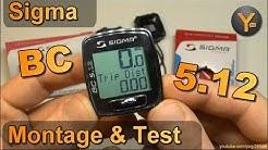 Montage, Bedienung & Testfahrt: Sigma BC 5.12 Fahrrad Computer / Tachometer mit 5 Funktionen