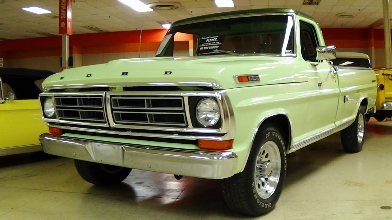 Awesome 1972 Ford F250 Sport Custom 360 V8 Restored