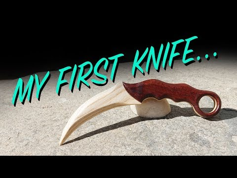 My First Knife - Wooden Karambit - Build Video