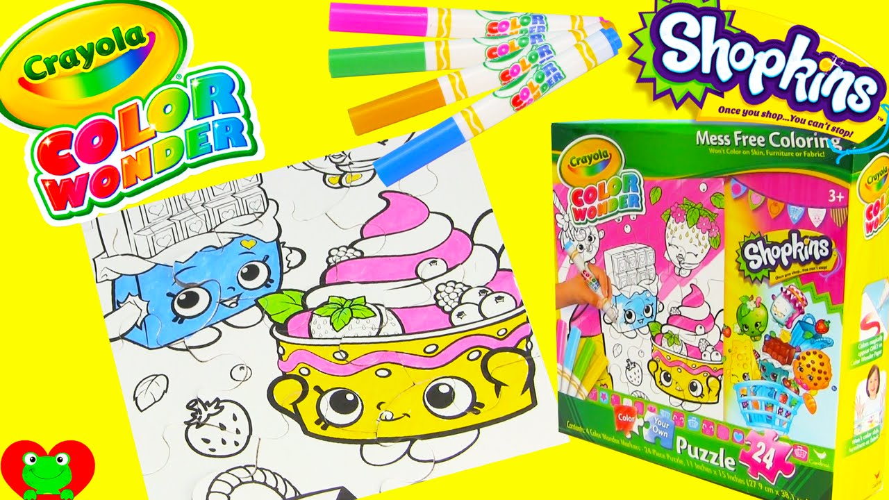 Shopkins Crayola Mess Free Coloring Puzzle with Cheeky Chocolate ...