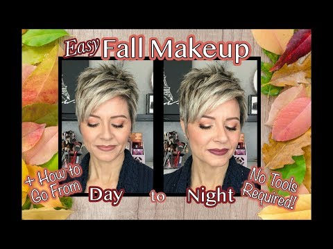 Easy Fall Day to Night Makeup + Too Faced Hot Buttered Rum Palette Review & Swatches - 동영상