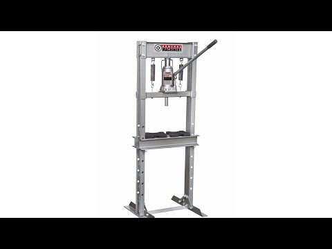 Harbor Freight Item #60604 12 Ton H-Frame Industrial Heavy Duty Floor Shop Press Assembly/Test
