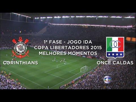 Melhores Momentos - Corinthians 4 x 0 Once Caldas-COL - Libertadores - 04/02/2015