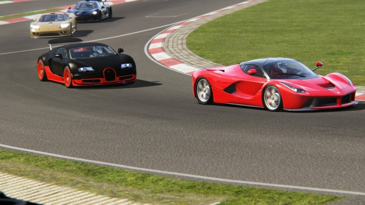 battle bugatti veyron super sport vs ferrari laferrari racing at nurburgring nordschleife youtube. Black Bedroom Furniture Sets. Home Design Ideas