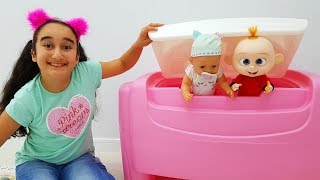 Gamze and babies hide and seek, funny video for kids