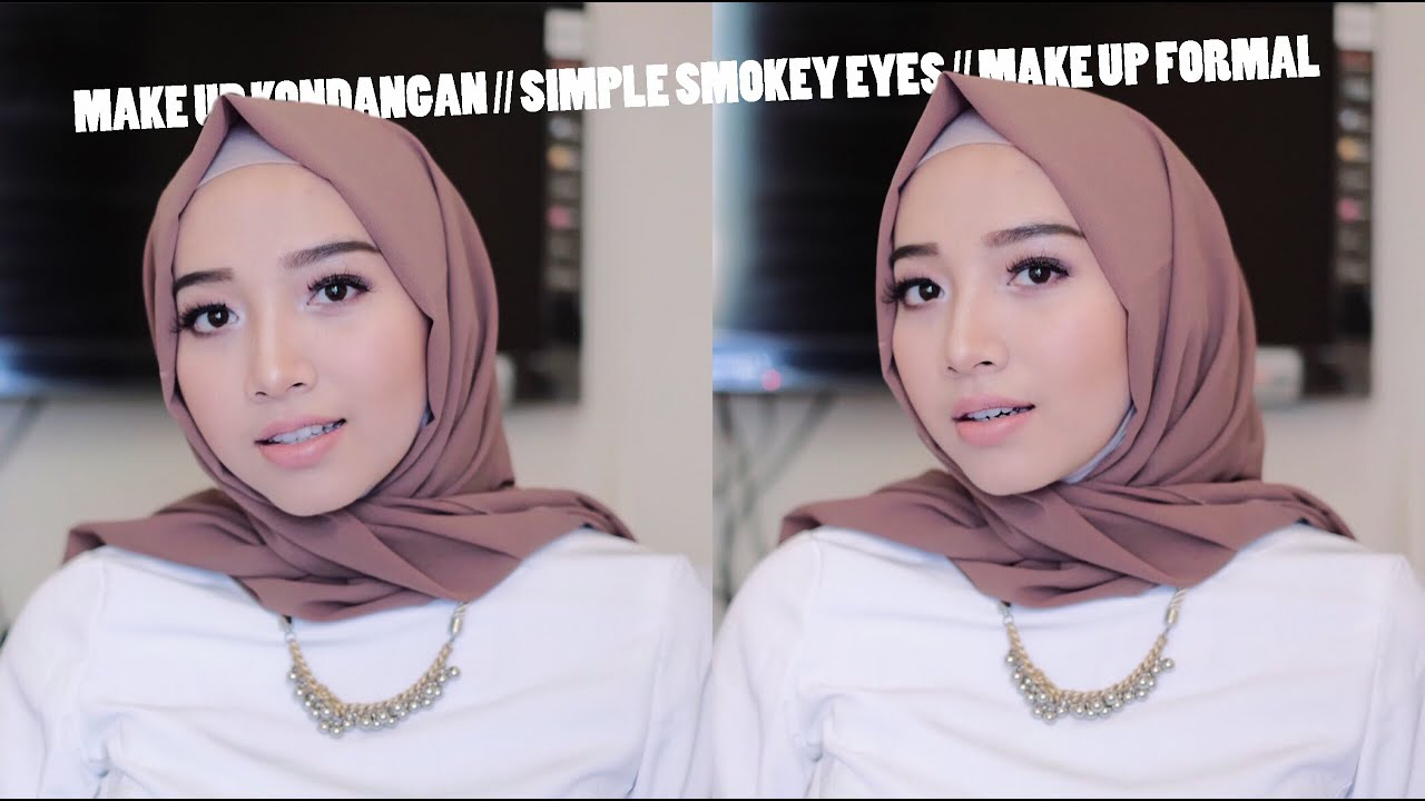 MAKE UP KONDANGAN SIMPLE SMOKEY EYES MAKE UP FORMAL YouTube