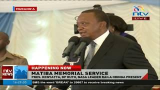 Video President Uhuru Kenyatta full speech at Kenneth Matiba memorial service download MP3, 3GP, MP4, WEBM, AVI, FLV Oktober 2018