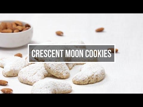 Crescent moon cookies