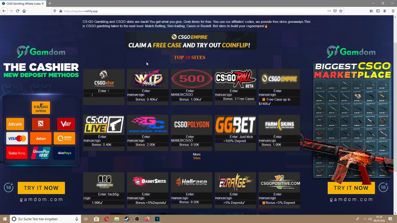 Kickback csgo betting websites idiots guide to horse race betting payouts