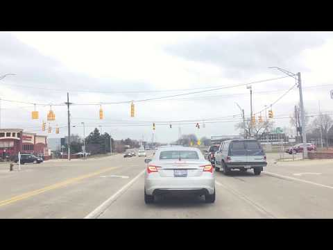Driving from Beverly Hills, Michigan to Detroit, Michigan