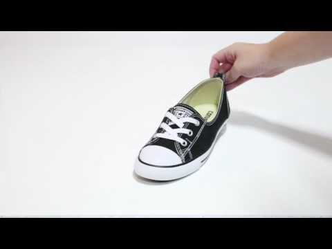 Converse Womens Ct All Star Ballet Lace Black Slip