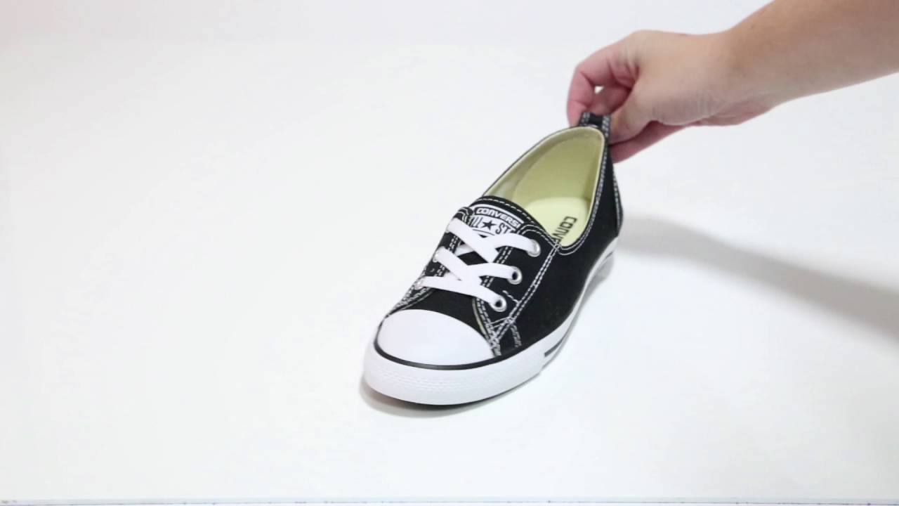 623d89e211c84b Converse Women s CT ALL STAR BALLET LACE black slip-ons - YouTube