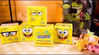 Губка Боб Квадратная Коробка сюрприз с конфетками ИГРУШКИ СПАНЧБОБ