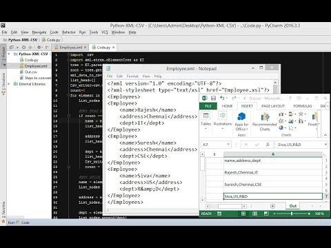 XML formatter: XML to CSV Python