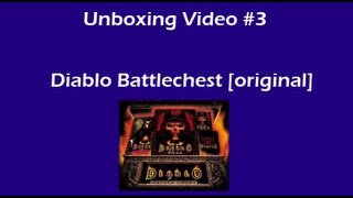 Diablo Battlechest (old edition) unboxing
