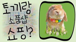 토끼랑 소품샵 쇼핑하기…