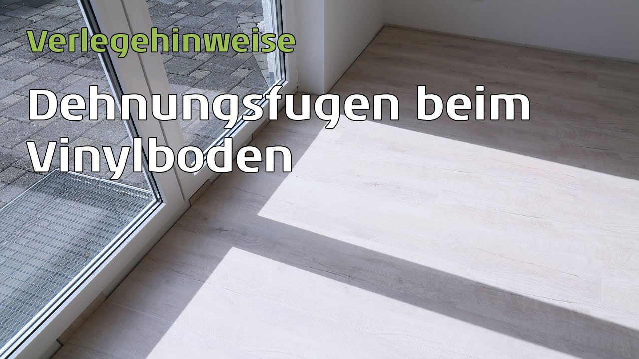vinylboden dehnungsfugen youtube. Black Bedroom Furniture Sets. Home Design Ideas