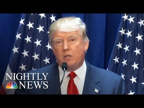 President Donald Trump Doubles Down On Former Illegal Immigration Comments | NBC Nightly News