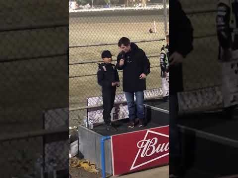 Plaza Park Raceway Turkey Night 11/16/18 Cash's Interview