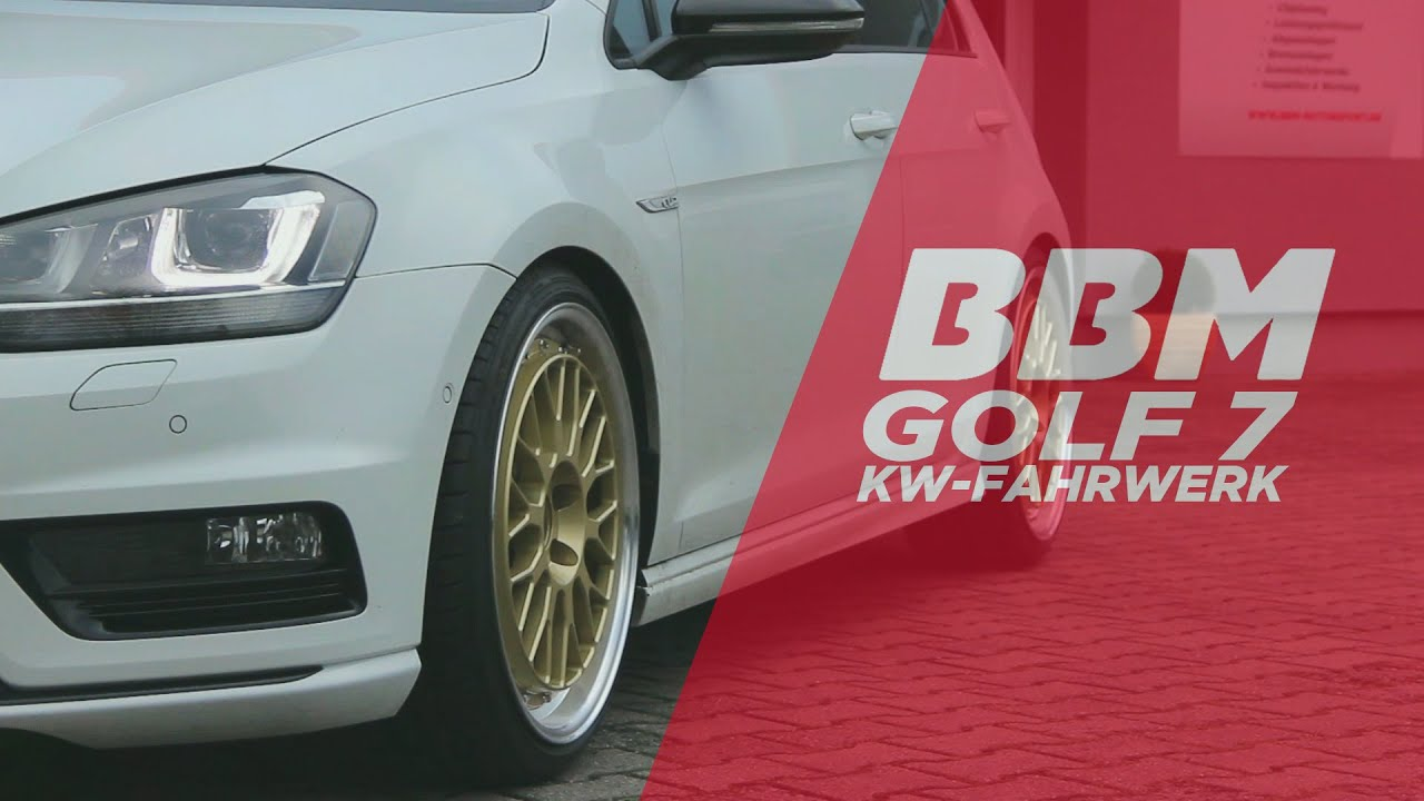 golf 7 kw gewindefahrwerk by bbm youtube. Black Bedroom Furniture Sets. Home Design Ideas
