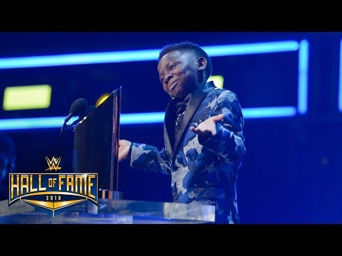"Warrior Award recipient Jarrius ""J.J."" Robertson roasts John Cena: WWE Hall of Fame 2018"