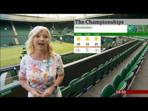 Weather Girl Carol Kirkwood ATTACKED By DOG At Wimbledon
