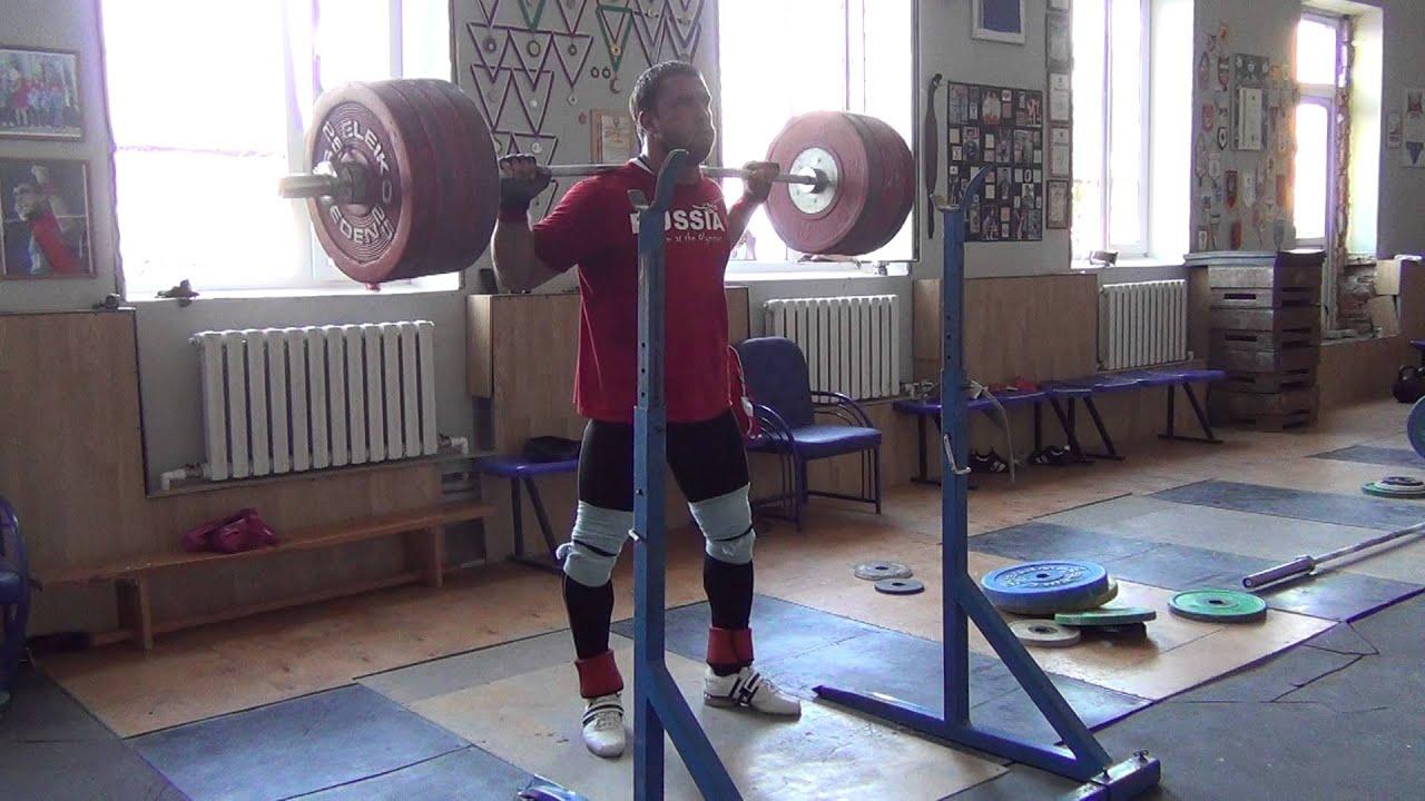 Klokov Dmitry - SQUAT 225x5 Training 29.06.2013 - YouTube