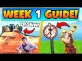 Fortnite WEEK 1 CHALLENGES GUIDE! - CROWN of RV's, Forbidden Locations (Battle Royale Season 7)