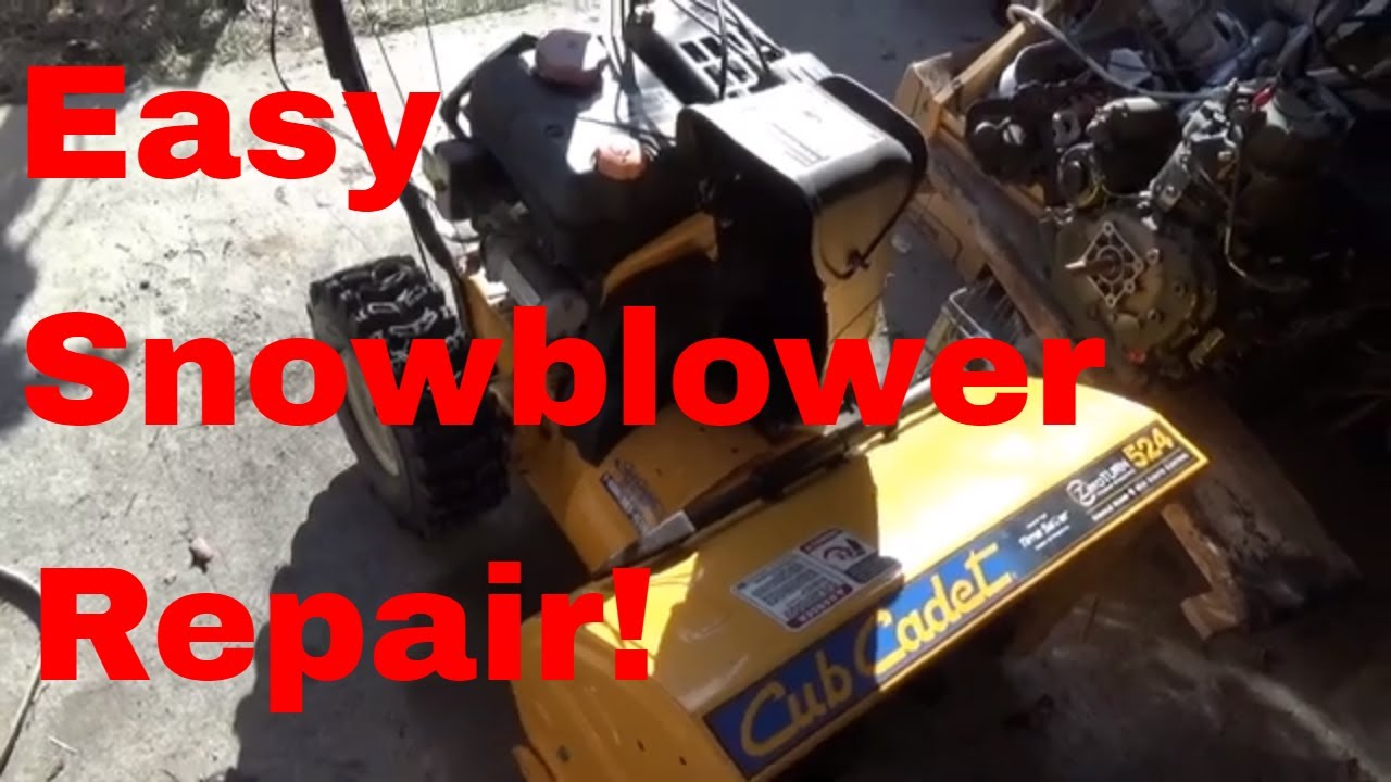 Fixing a Cub Cadet 5 24 Snowblower drive issue, repairing a weak snowblower  drive!