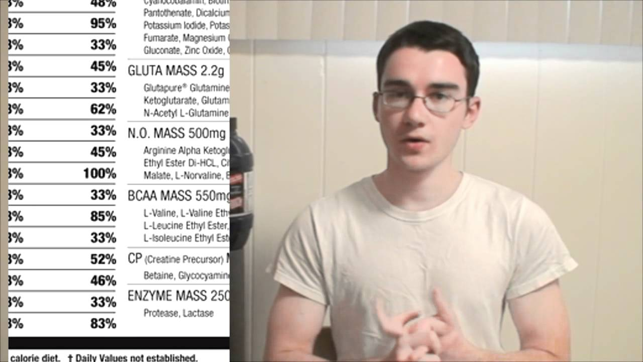 Supplement Review: Iso Mass Xtreme Gainer - YouTube