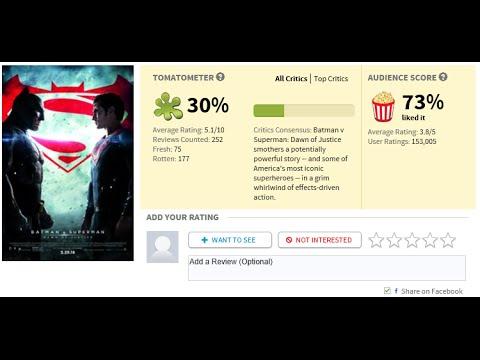 rotten tomatoes v batman v superman youtube