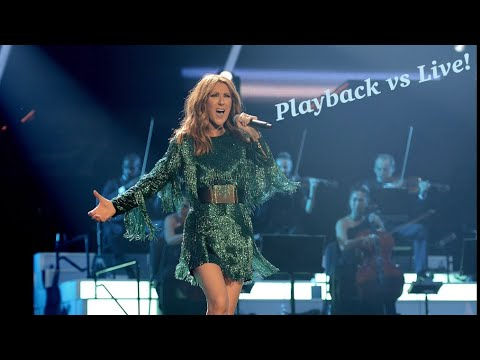Celine Dion - The Show Must Go On Playback vs Live!
