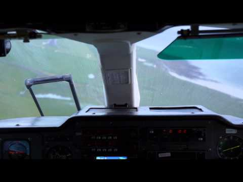 Female pilot flying shortest flight(2.5 minutes) in the world,  Papa Westray to Westray, Orkney