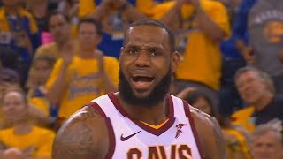 LeBron James Can't Believe The Refs Are Helping The Warriors By Not Calling A Foul On Stephen Curry!