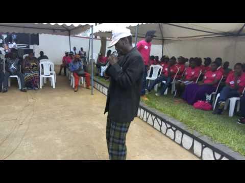 Participant performing Onyambanga by Kabuye Semboga (Platinum Avenue Talent Search Season one)