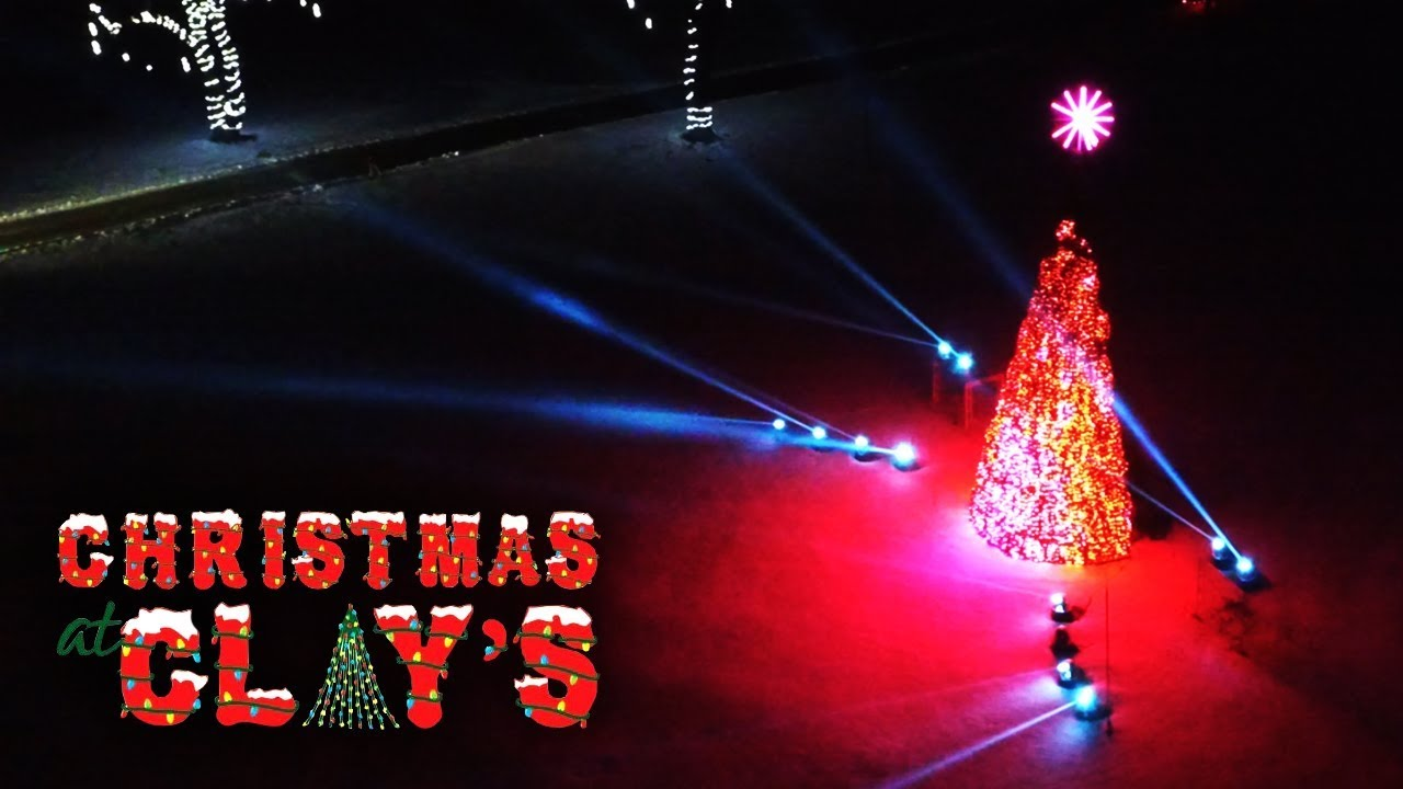 Clays Park Christmas Lights 2020 Christmas at Clay's   The Amazing LED Tree!   YouTube