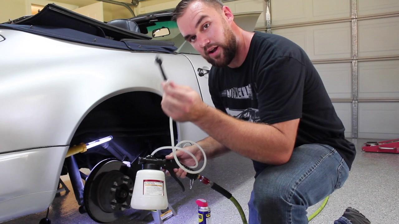 Harbor Freight Pneumatic Brake Bleeder Kit Diy Porsche 911 Youtube