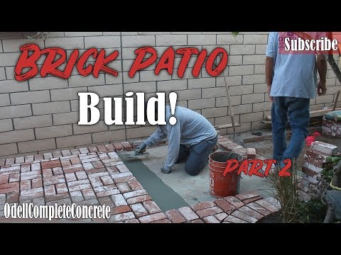 How to Build a Brick Patio Basket Weave Pattern DIY Part 2