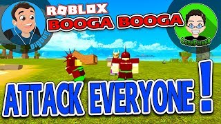 Attack Everyone! CodePrime8 and I go full PVP in Roblox Booga Booga! Ep: 17