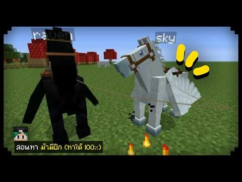 ✔สอนทำ ม้ามีปีกโคตรเท่ (ทำได้100%)   Minecraft PE