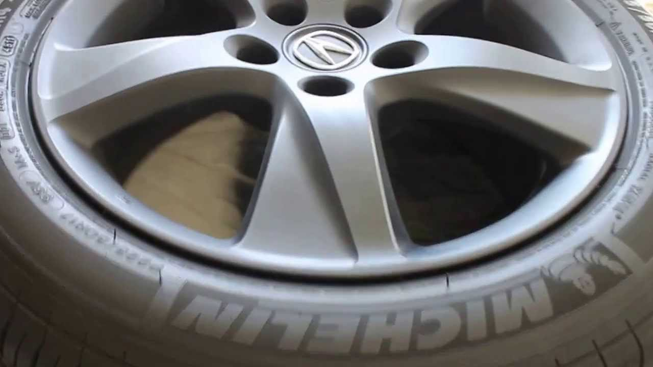 Acura Tl Wheels >> Plasti Dipped Rims on 2012 Acura TSX Special Edition - YouTube