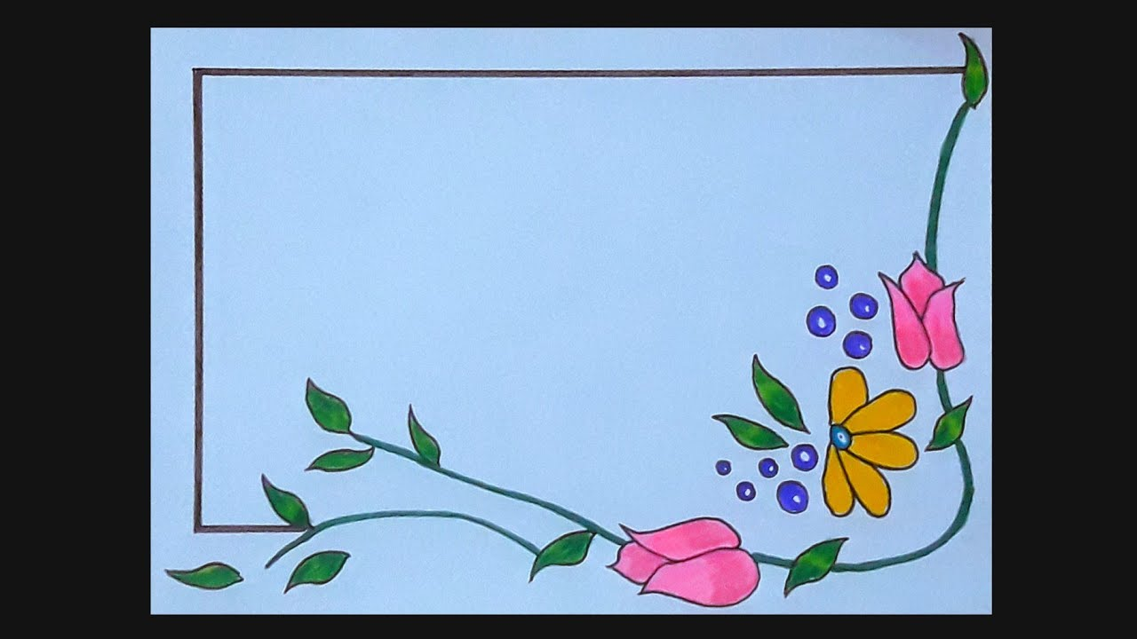 Flower Border Design For Project Floral Border Design On Paper