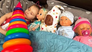 Are you sleeping brother John &  Giant Stacking Rings Educational Video for  Kids JoyJoy Lika thumbnail