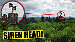 My DRONE caught SIREN HEAD in a CREEPY FOREST!! Real life Siren Head Caught on Camera!!