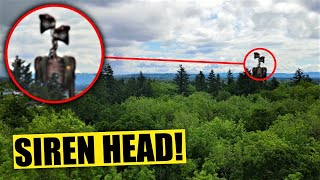 My drone caught siren head in a creepy forest!! real life on camera!! - i went to the forest and you will not believe wha...