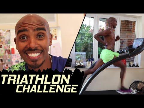 Triathlon Challenge Vs Tania & Rhianna..!! | Mo Farah