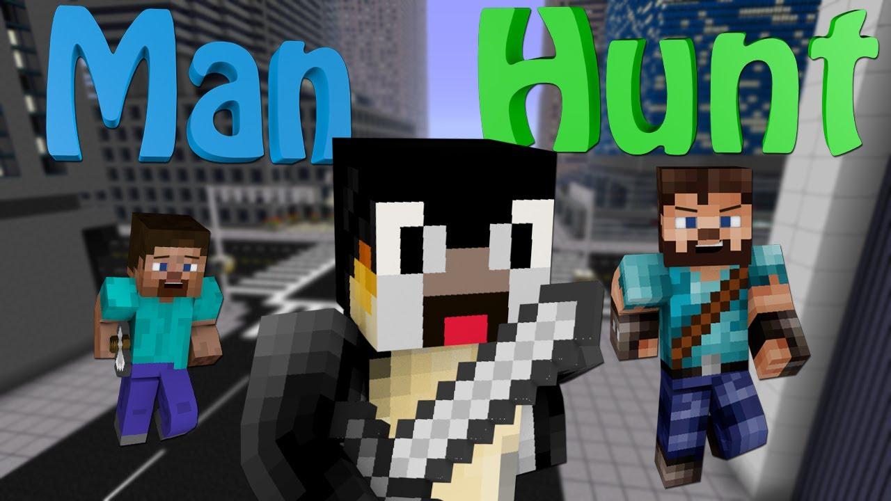 Minecraft mini game man hunt youtube for The atlantic craft minecraft
